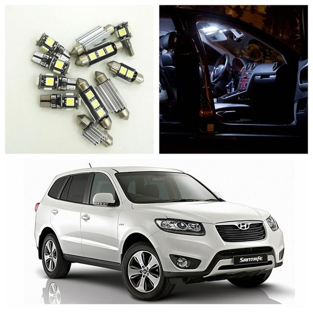 13 Pcs White Car Lâmpadas LED Interior Package Kit Para 2007 2012 Hyundai  Santa Fe