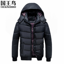 Men's Down jackets Winter coat men Casual Thicken lightweight Down jacket Hoodied Large Size Winter Warm Cotton Clothes L-4XL