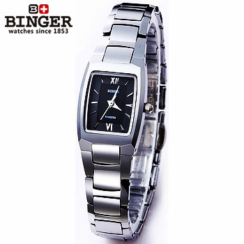 Fashion Binger Women Dress Analog Small Watches Square Surface Ladies Quartz Wristwatch Relogio Vintage watches Tungsten