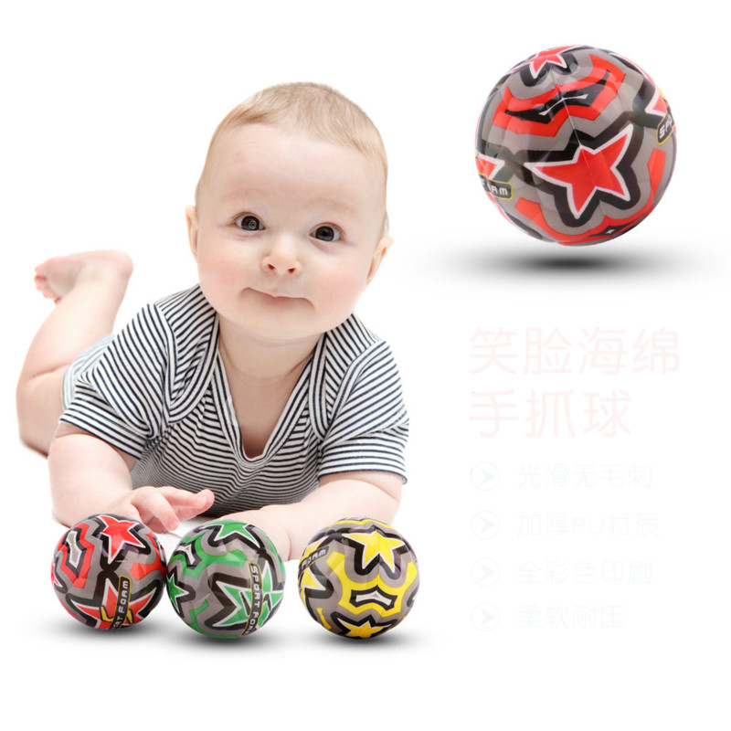 Creative New Products 7.5cm PU Football Baby Catch Ball Children's Toys Sports Toys Bouncing Ball Sport Foam Kid Gift