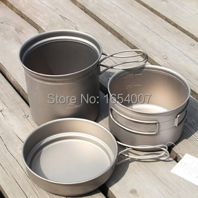 New Fire Maple FMC-TD2 Pot Sets Outdoor Portable Camping Tablewares Camp Cooking Cookware Picnic Titanium Cutlery 1-2 Persons fire maple fmc td3 camping titanium pot set ultralight 1 2 person outdoor picnic cooking cookware pot frying pan 174g