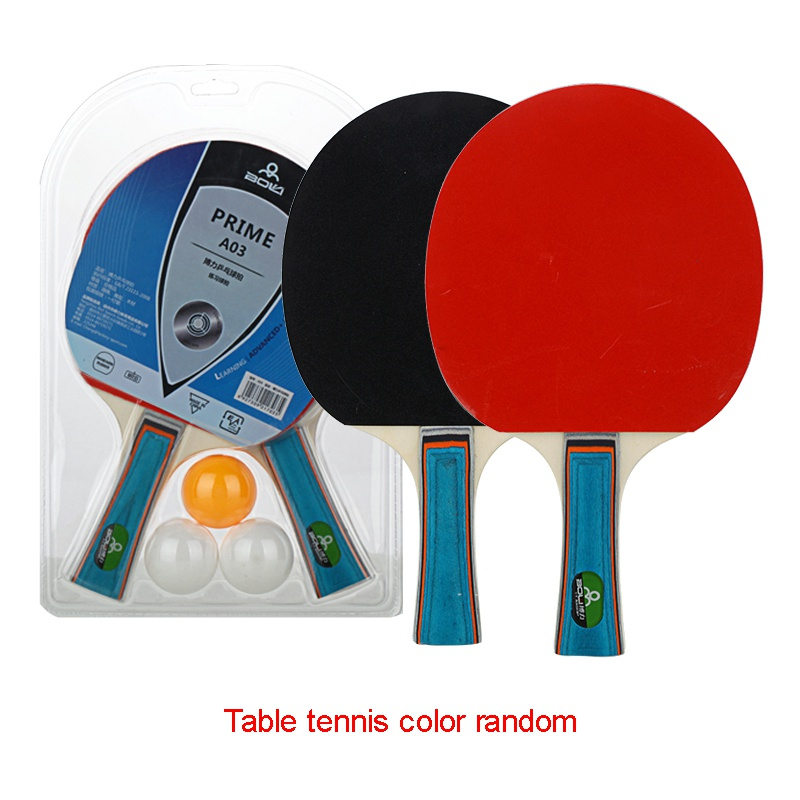 2racket 3balls Professional carbon fiber table tennis rackets with double face pimples in table tennis rubber