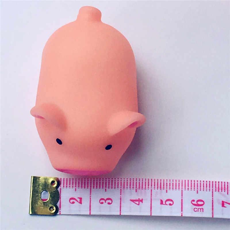 Мини милые маленькие розовые игрушечные свиньи для детей, поросята, звучащие игрушки для ванны для детей, игрушки для игры в воду, подарок, расслабляющие сжимаемые игрушки
