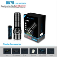 IMALENT DN70 USB Rechargeable CREE XHP70 3800 Lumens 325 Meters LED Flashlight by 26650 Battery