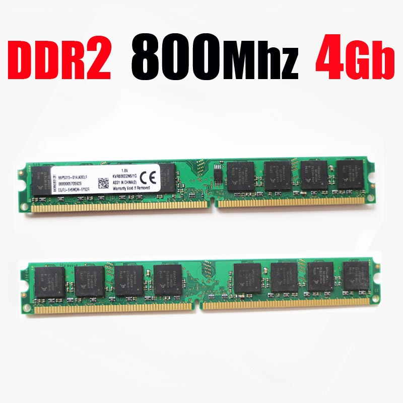 ram ddr2 4gb 8gb 800 / ddr2 800mhz desktop minne PC2 6400 ram ddr 2 4g 8g 4 gb 8 gb - levetidsgaranti - god kvalitet
