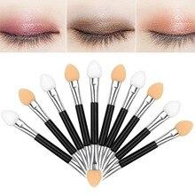 10pcs Disposable Eye Shadow Lip Eyebrow Eyeliner Applicator Sponge Brushes Cosmetic Tool Double-side Eyeshadow Applicators