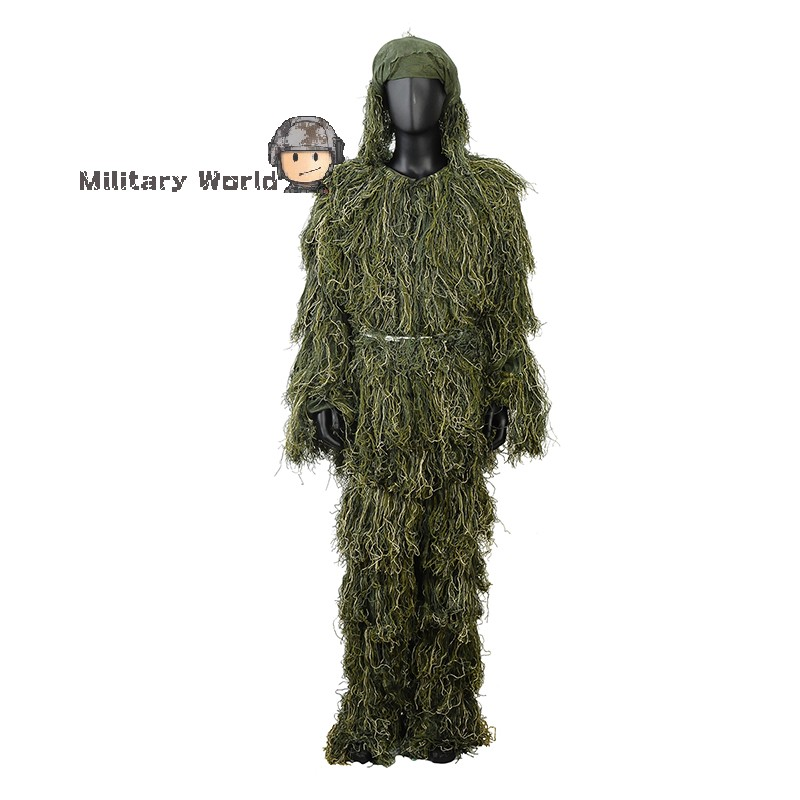 ФОТО Ghillie Suit Sniper Camo Woodland Snow Hunting Bionic Training Clothes Bird Watching Ghillie Suits Airsoft  Disguise Uniform