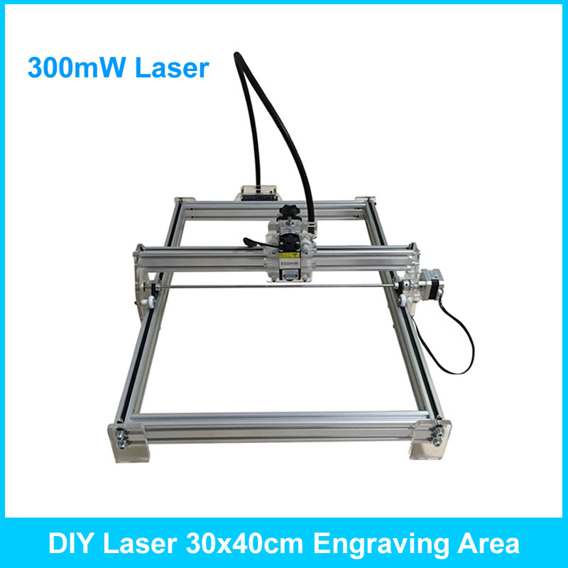 300mW Desktop DIY Laser engraving engraver cutting machine 30*40cm working size dioni dioni d135b 2gb