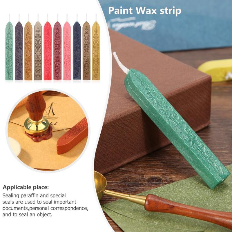 20 Color DIY Seal Wax Stick Retro DIY Sealing Strips Seal Dedicated Beeswax Stick Branding Paint Stamps For Envelope DIY Tools