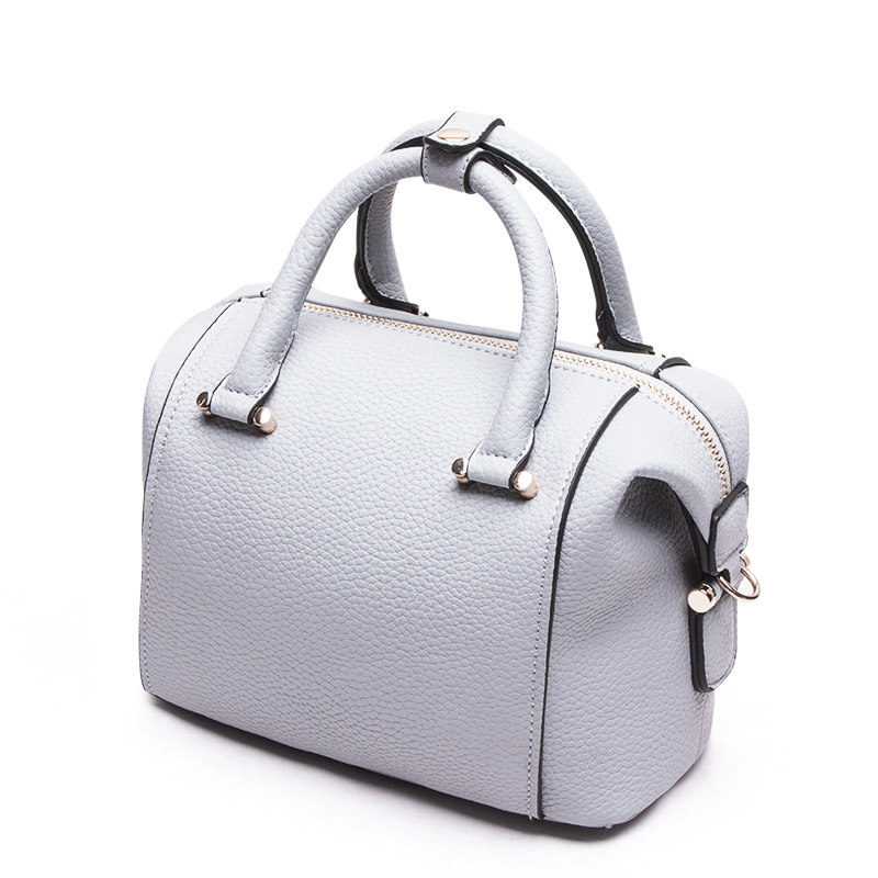 Classic Elegant Boston Bag Women Luxury Large font b Handbag b font Stylish Black Grey Ladies