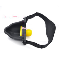 Silicone Piss Urinal Mouth Gag Bondage Head Harness Belt With 4pcs Gag Ball Slave Bdsm Sex Toys For Adult Games Erotic Sex Toys
