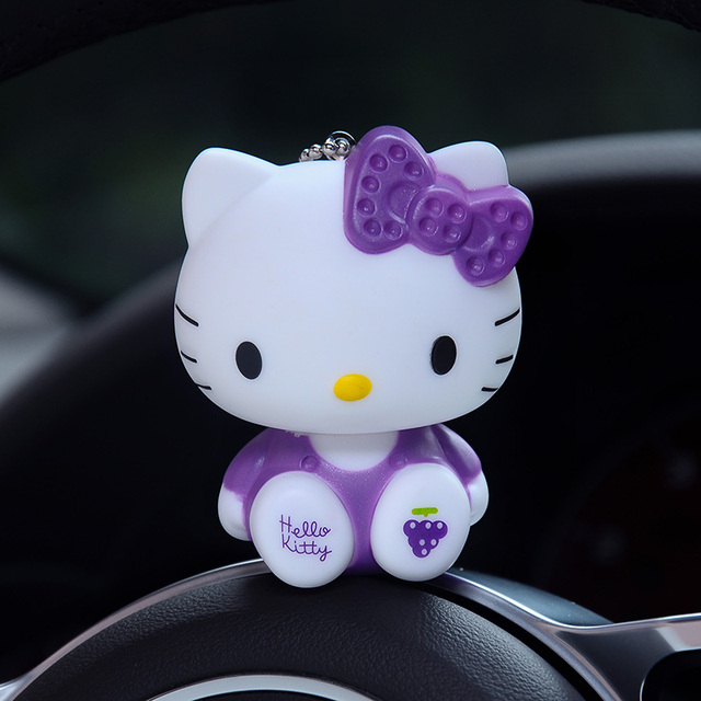 d01f225ad Hello Kitty Keychain Cat Dolls Keychain Pom Pom Porte Clef Bag Car Key Ring  Cartoon Fur Ball Key Chain Chaveiro Gift for Women