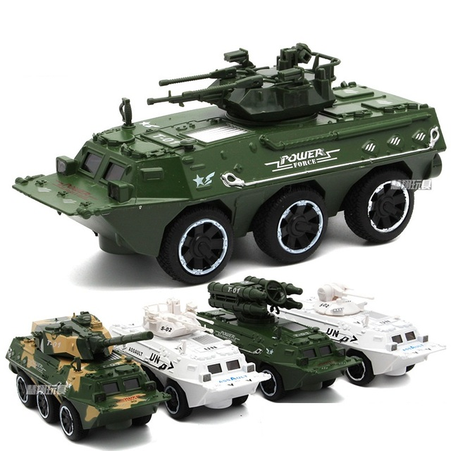Armored Personnel Carriers Alloy Vehicles Model with Flashing Simulation Sound Effect Color Random