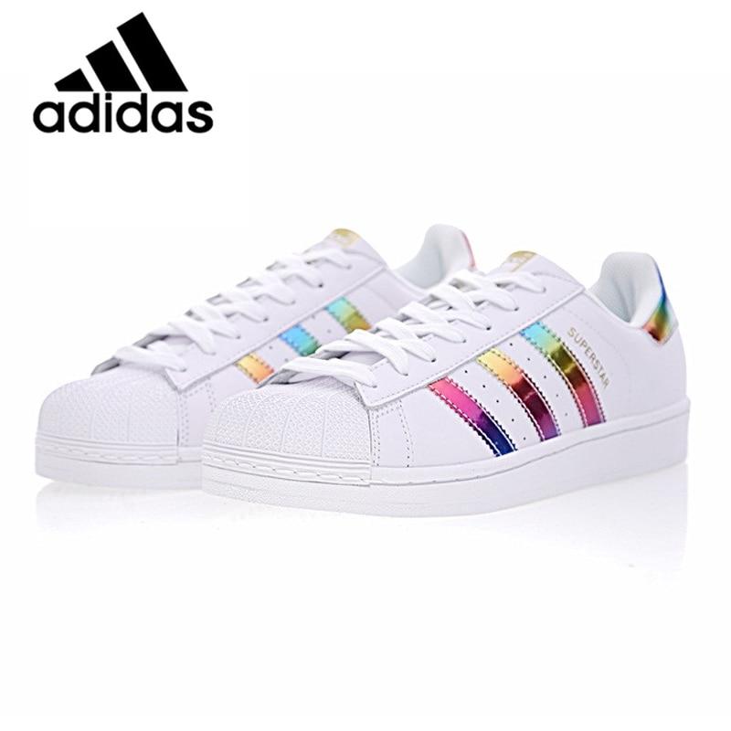 Original auténtico Adidas SUPERSTAR trébol hombres y mujeres de Unisex zapatos de skate zapatos ligero ocio bien QualityS81015