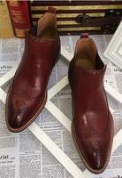 На осень зиму новые модные мужские Ботинки Martin мужской английский стиль резные Высокий Верх бизнес повседневная обувь бесплатная доставка