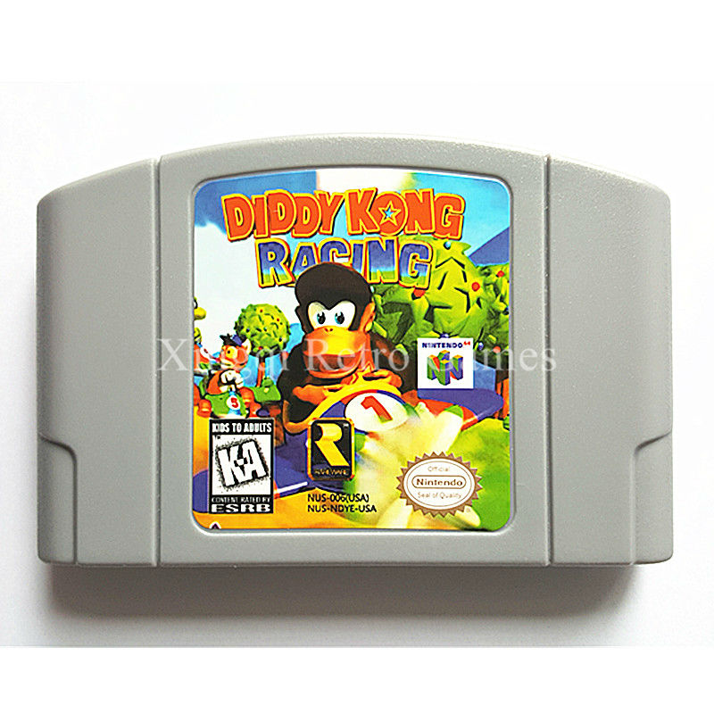 Nintendo N64 Game Diddy Kong Racing Video Game Cartridge Console Card English Language US Version