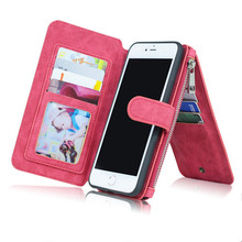 Wallet  Unisex  business Card holder for iPhone 6 /7/8  and Samsung   , HUAWEI Cell Phone Wallet business  multifunctional  bag