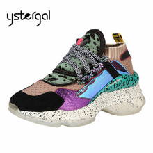 Ystergal Women Platform Creepers Mixed Color Casual Flats Espadrilles Tenis  Feminino Trainers Ladies Shoes Zapatillas Mujer c0f29b34cded