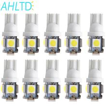 10Pcs T10 W5W 5050 5SMD 5 smd Car Interior Lights 168 194 LED DC12V License Plate Bulbs Clearance Lamps 5led Marker Wholesale 100pcs univeral t10 wedge 5 smd 5050 xenon led light bulbs 192 168 194 w5w 2825 158 cool white license plate lights freeshipping