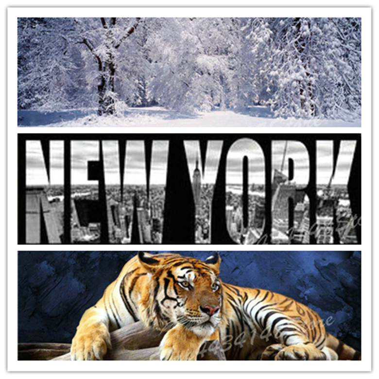 Diamond Painting Cross Stitch Needle Arts & Crafts 5d Diamond Painting Tiger Winter Snow Tree Full Square Diamond Embroidery Rhinestone Mosaic Sewing Artwork 30x90cm