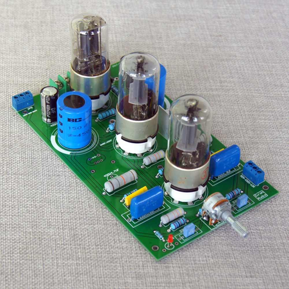 Assembled 6Z5P+6N8P*2 (6SN7)Tube Pre-amplifier Board Bile Rectifier for HIFI AMP