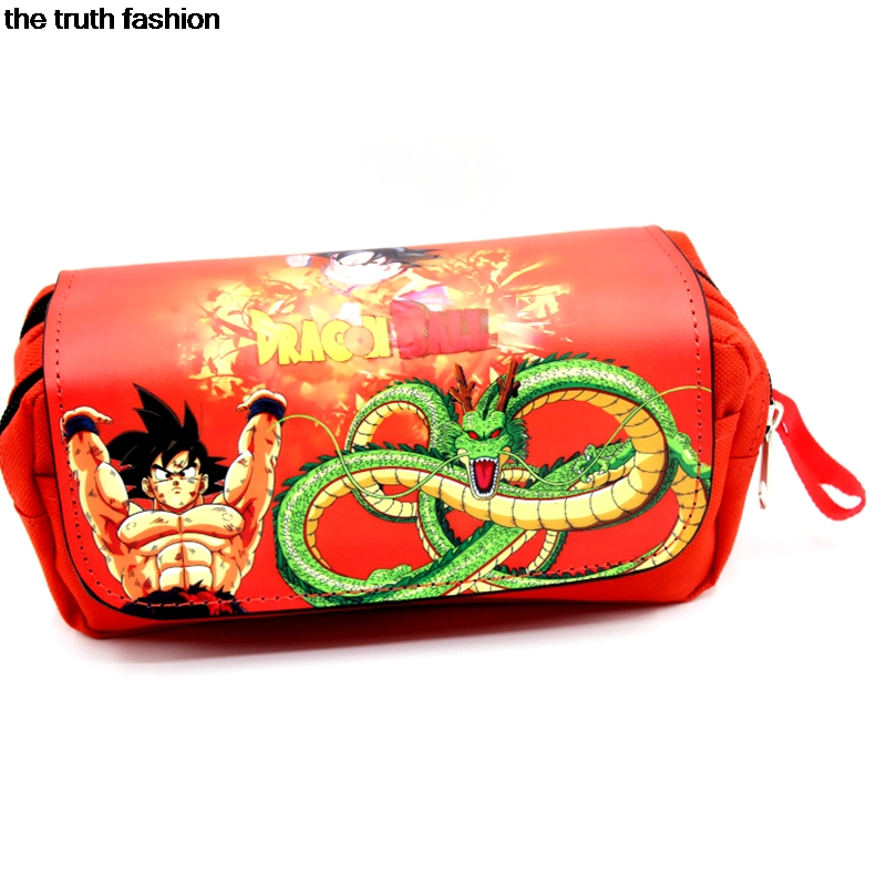 cool Double zippered cosmetic bags dragball pokemon totoro children bag case women minecraft makeup Bags for kids