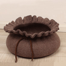 unique creative pets beds dogscat felt can be washed dog house dog beds for