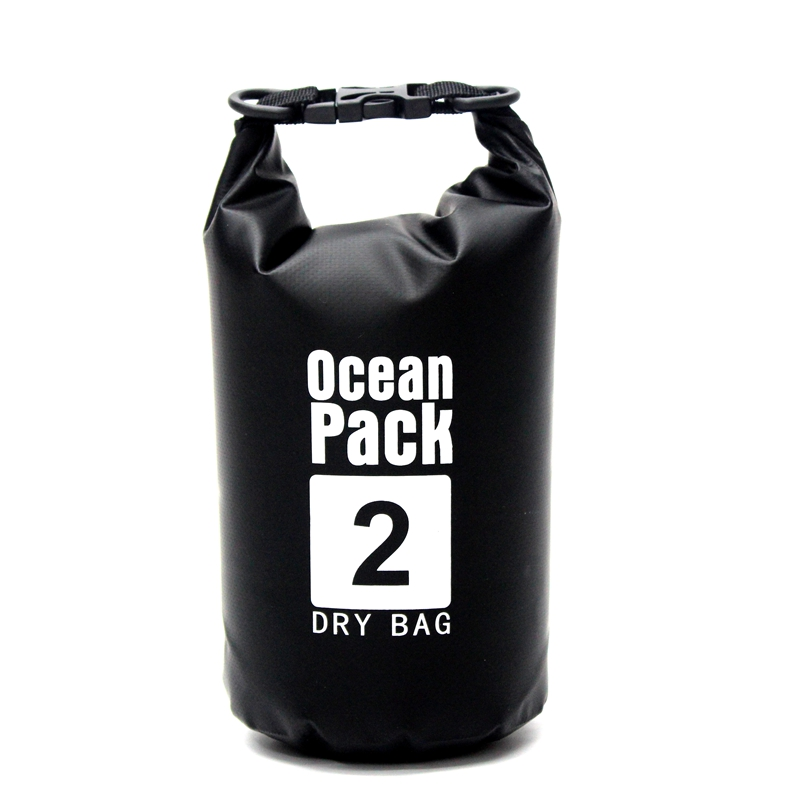 2L/5L/10L/15L/20L Black Waterproof Bag Outdoor Swimming Storage Backpack Men Rafting Dry Bag Fot Travel River Tekking Equipment