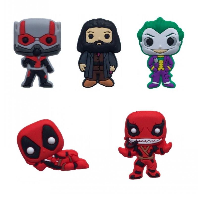 Aufrichtig 100 Stücke Deadpool Antman Pvc Schuh Charme Venom Joker Action Figur Schuh Schnallen Zubehör Fit Armbänder Croc Jibz Kinder Geschenk