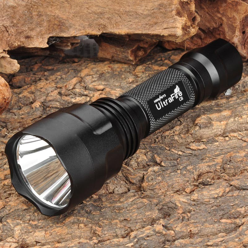 T6 Flashlight 5-Mode White CREE XM-L LED Flashlight Kit LED Hard Light Flashlight 18650 antorch linterna led LED antorcha rustu r02b t6 800lm 5 mode white flashlight black 1 x 18650