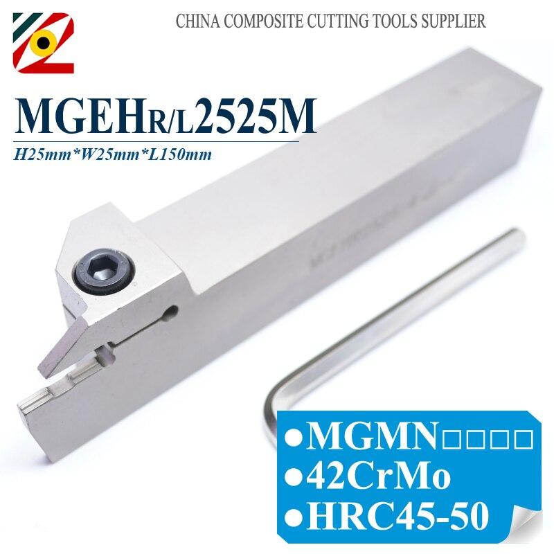 EDGEV 1PC MGEHR/L2525M-2/2.5/3/4/5 MGEHR2525 MGEHL2525 CNC Grooving Tool Holder Turning Tools цена