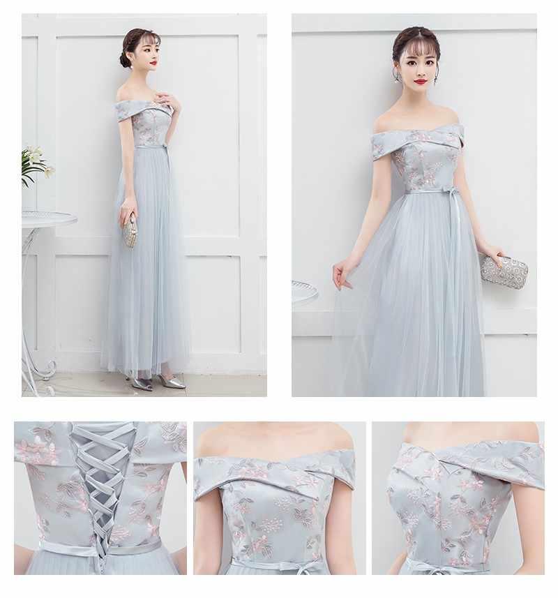 งานแต่งงานชุดเจ้าสาวชุดสตรีสำหรับ Bridemaide ปิดไหล่