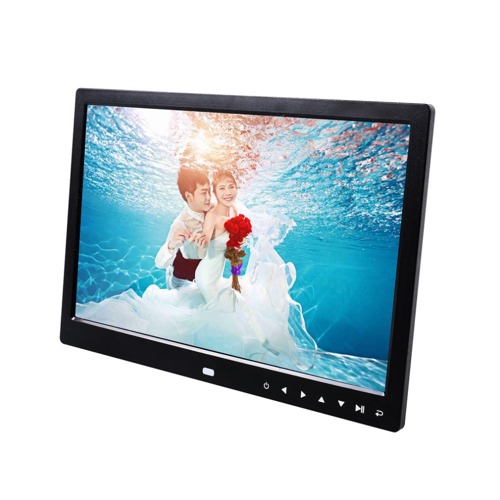 12 inch LED 1200*800 Electronic Frame Front Touch Buttons Pictures Music Porta Retrato Marco De Fotos MP3 Video Built-in Speaker штатив fotos fs005