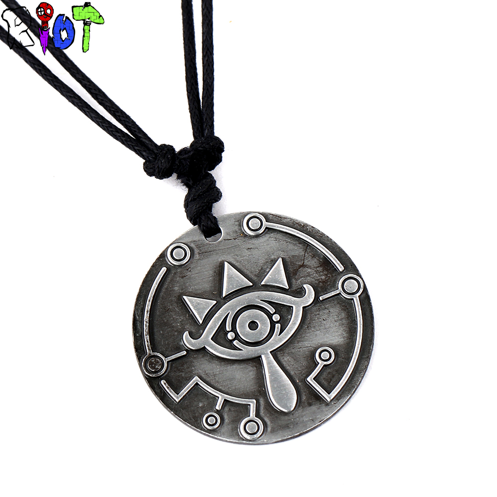 The Legend of Zelda Breath of the Wild choker necklace scalable rope chain vintage Pendant Necklaces <font><b>big</b></font> eyes logo charms gift image