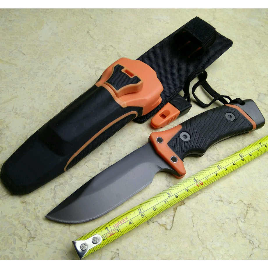 New Pro Fixed Blade Knife Camping Hunting Survival Knives Tactical tools & Diamond Sharpener