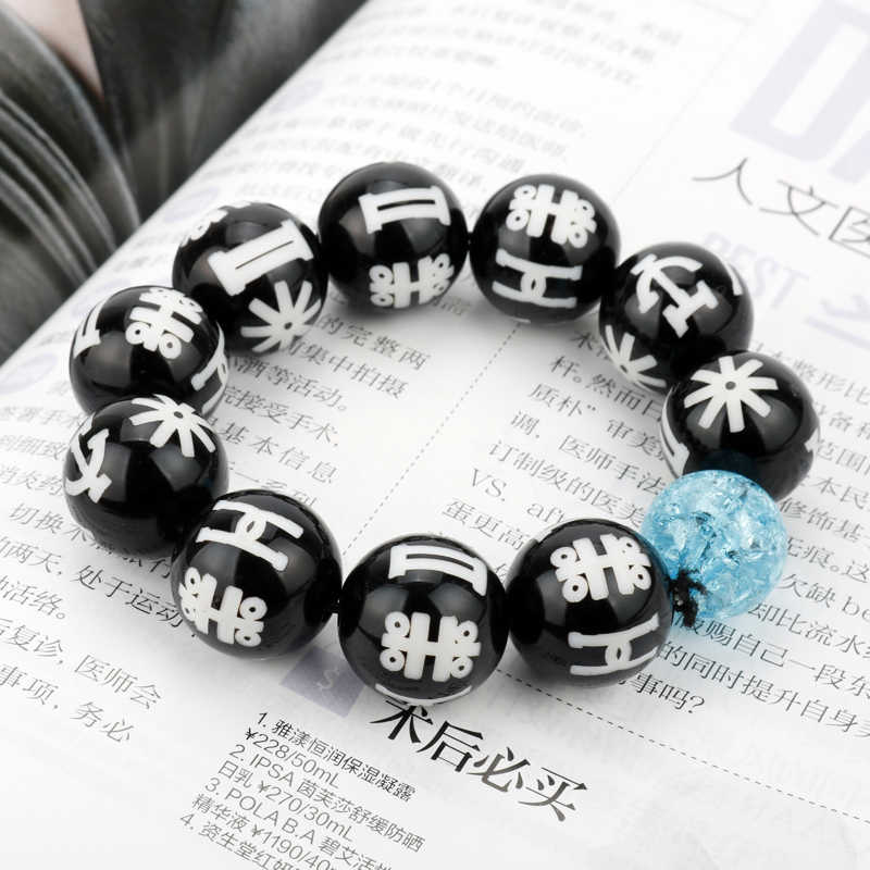 ... Black Panther KIMOYO Bracelet Beads Wakanda T Challa Cosplay Jewelry  Women Men Props with ... ea1613d2c3f5