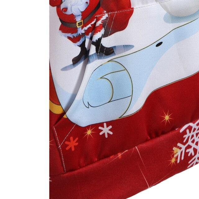 Christmas snowman 3d Print Hooded Plus Size Sweatshirt Kangaroo Pocket Hoodie Long Sleeve lagenlook voguees Trend New year Tops 4