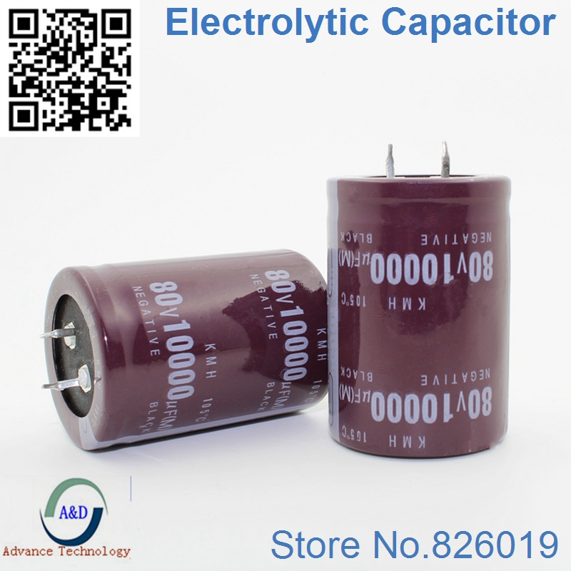 Best Quality 80V 10000UF Radial DIP Aluminum Electrolytic Capacitors Size 35*50 10000UF 80V Tolerance 20%