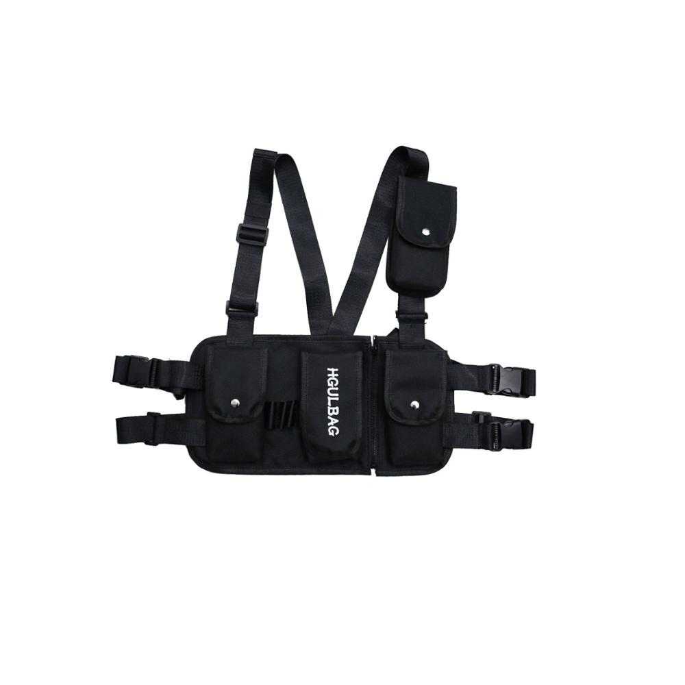 Men 39 s breastplate hip hop streetwear unisex streetwear feature pack military tactical chest bag cross Backpack new Fashion Wais in Waist Packs from Luggage amp Bags