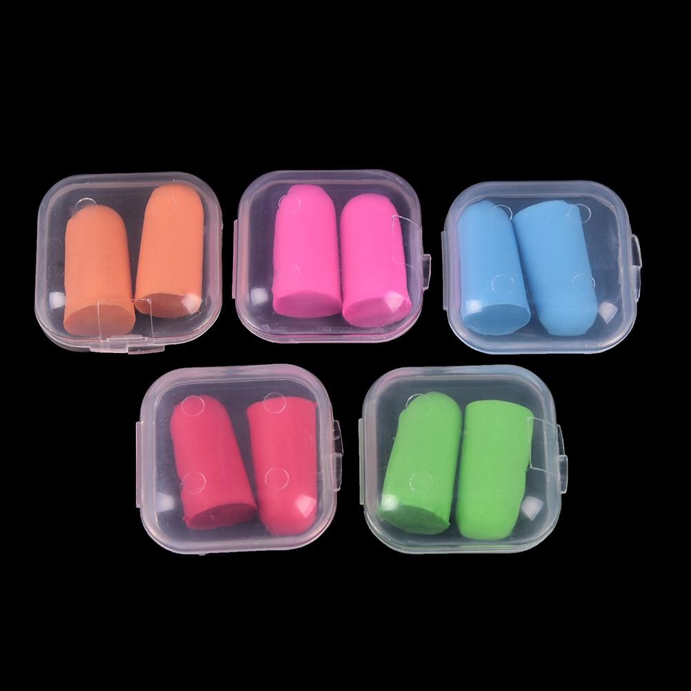 2PC Comfort Earplugs Noise Reduction  Earplugs Protective For Sleep Slow Rebound Earplugs Foam Soft Ear Plugs Box-packed
