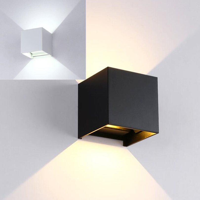 Square Cube Surface Mounted 7w 9w Cob Led Wall Lamps