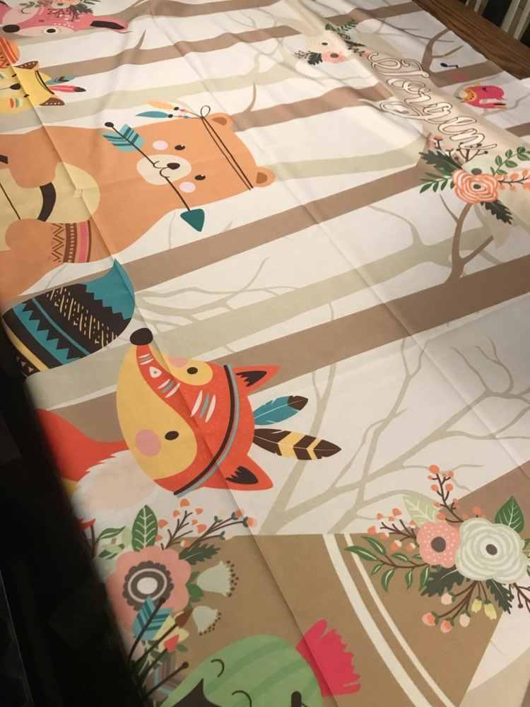 Karikatür hayvanlar doğum günü arka planında bebek orman Jungle Safari fotoğraf arka plan parti süslemeleri zemin