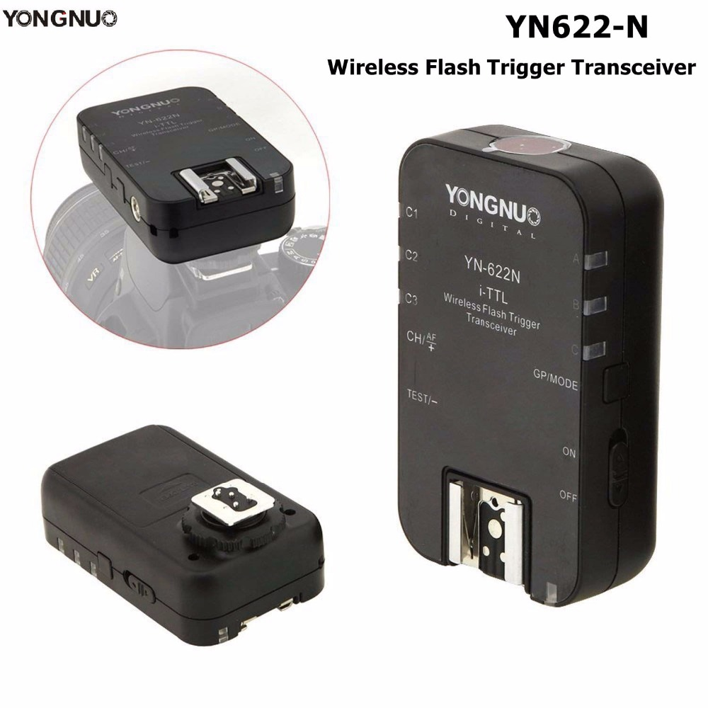 Yongnuo YN-622N Single i-TTL Wireless Flash Trigger Transceiver For Nikon D70 D70S D80 D90 D200 D300 D300S D600Yongnuo YN-622N Single i-TTL Wireless Flash Trigger Transceiver For Nikon D70 D70S D80 D90 D200 D300 D300S D600