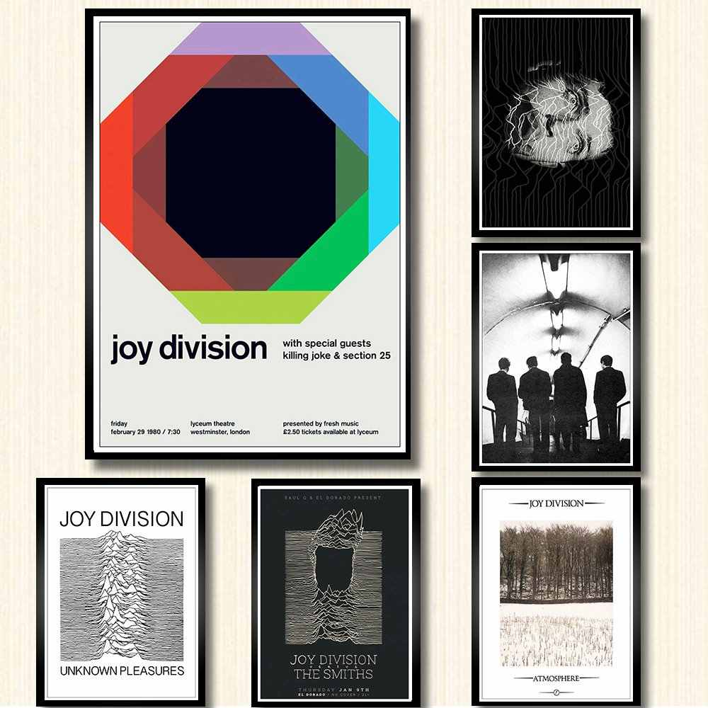 Punk music Joy Division poster white coated paper print painting room wall decoration wall art poster