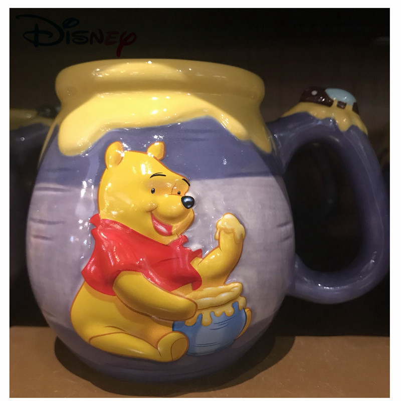 Disney Baby Ceramic Mug Cup Winnie Honey Jar Child Women Drinking 3D Cartoon Mug Cup Collectibles As A Kids Birthday Gift 2019
