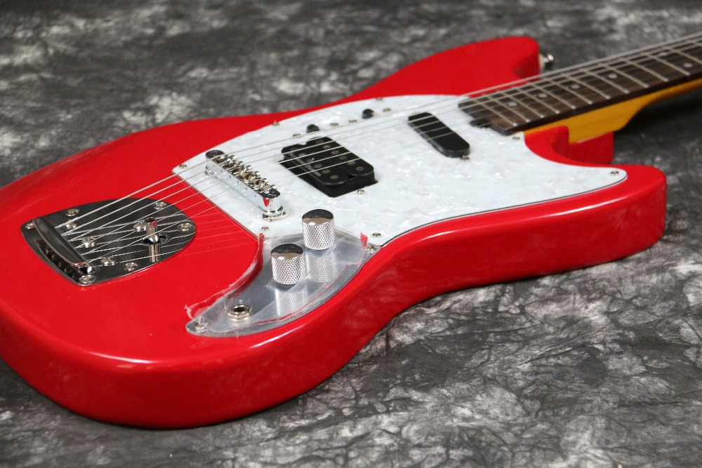 Instock Starshine Mustang E-Gitarre SR-LST-026 Vintage-Tuner mit rosa - Musikinstrumente - Foto 5