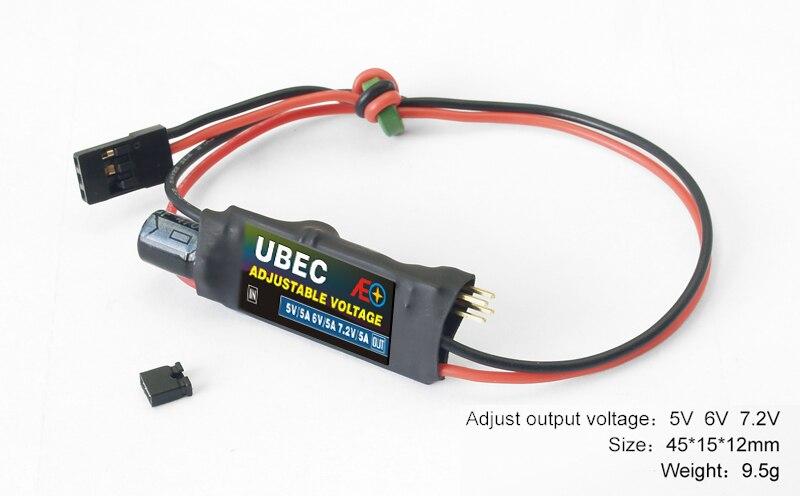 Free Shipping UBEC/BEC Voltage Adjustable UBEC 5V/6V/7V Adjustable 3A Output