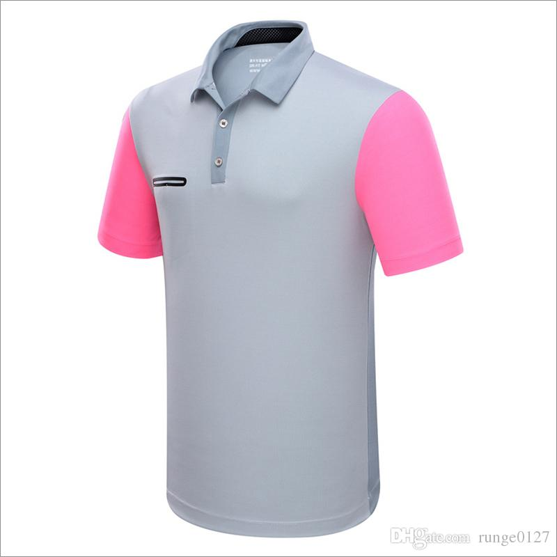 ФОТО Golf Sport T Shirts Men Summer Clothes Short Sleeve Solid Shirts Sportwear Ball Clothes Quick Dry Breathable Golf T Shirt
