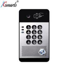 I30 SIP système dinterphone vidéo sonnette caméra de porte VOIP Interfone avec lecteur de carte