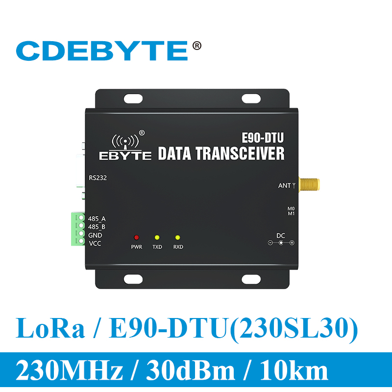 E90 DTU 230SL30 LoRa 1W Modem RS232 RS485 230MHz RSSI Relay IoT vhf Wireless Transceiver Module 30dBm Transmitter and Receiver-in Communications Parts from Cellphones & Telecommunications